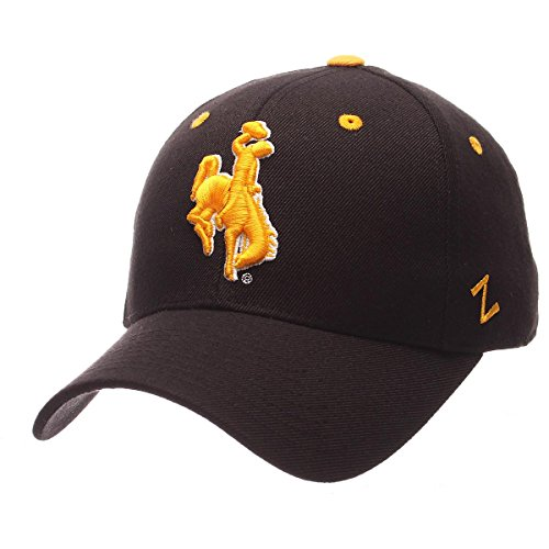 (Zephyr Men's Wyoming Cowboys DHS ZWOOL Fitted HAT Black 71/4)