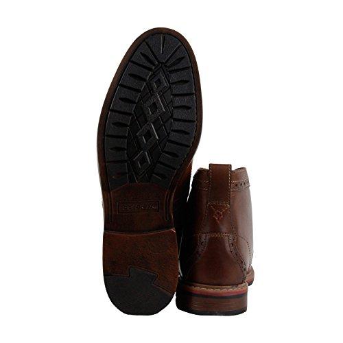 Clarks Melshire Augmenter Mens Tan En Cuir Robe Décontractée Lacets Bottes Chaussures