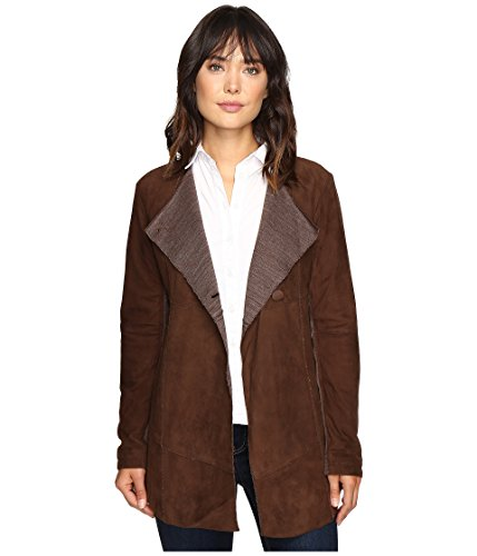 (Brown Suede Long Jacket Stetson Ladies Collection-oute (m) 11-098-0539-6662BR)
