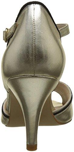 Petite Mendigote Neptuna Gold, Scarpe Col Tacco con Cinturino a T Donna Oro (Gold Or Gld)