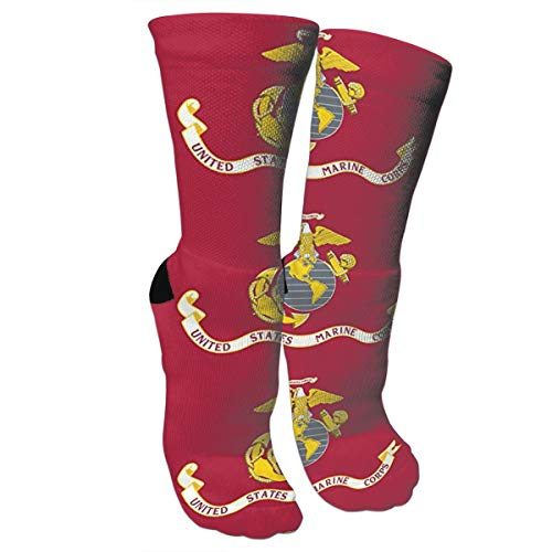 New US Marine Corps Fashion Stylish Knee High Socks for Women and Men-Fitness Novelty Crew Athletic Socks Comfortable Knee High Sock