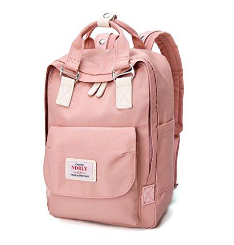Para mujer Bolsos mochila Bolsos bandolera Carteras de mano Mochila escolar Bolsa para portátil Cuero Sokszínű V3 Rosa