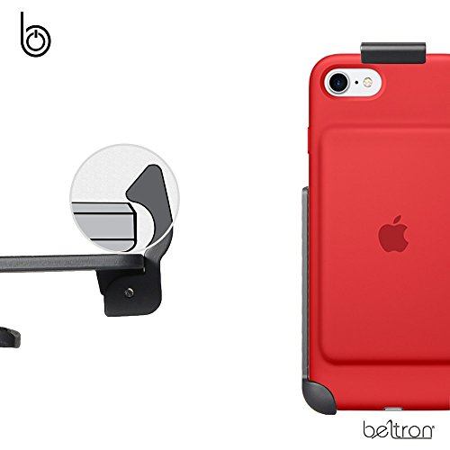 cheap for discount 7bcb8 fbdae BELTRON Belt Clip Holster for the Apple Smart Battery Case - iPhone 7 (case  not included) - Features: Secure Fit, Quick Release Latch, Durable ...