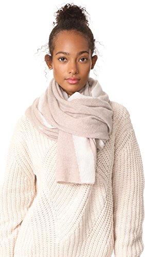 White + Warren Women's Cashmere Travel Wrap Scarf, Truffle Multi, One Size by White + Warren