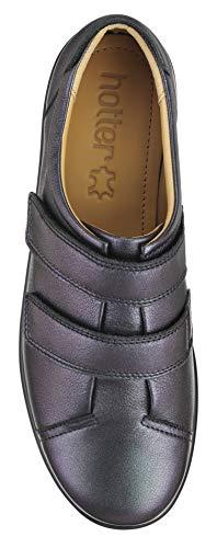 Pumps Women's Leap Hotter Argento Toe petrolio Closed metallizzato Ia6Zq