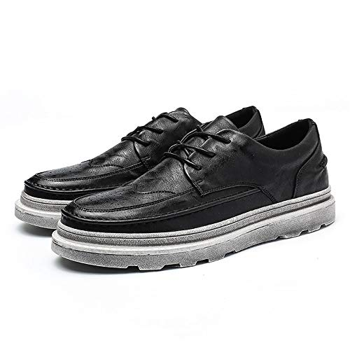 New Casual Impermeabili Uomo Nero Solid Scarpe Color da da Outsole Cricket Scarpe aumentate Nuovi Fashion Affari Brogue Vintage Oxford EwBIYOBq