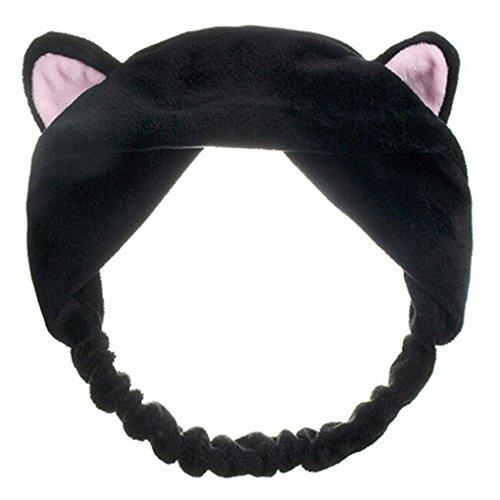 Powerfulline Women Girls Cat Ears Headband Hair Head Band Headdress Sports Hood for (Kids Cat Makeup)
