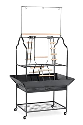 Prevue Hendryx 3180 Pet Products Parrot Playstand, Black Hammertone from Prevue Pet Products, Inc.