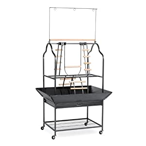 Prevue Hendryx 3180 Pet Products Parrot Playstand, Black Hammertone 27