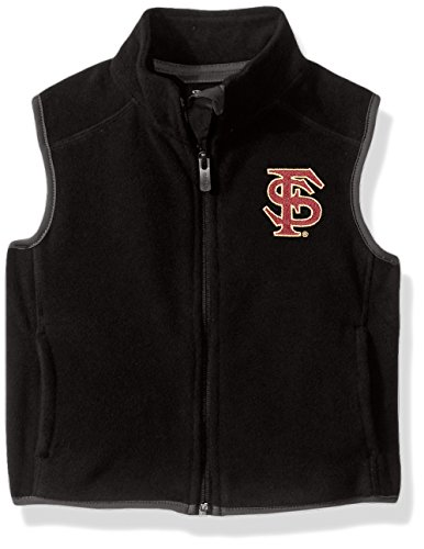 NCAA Florida State Seminoles Kids & Youth Boys Scrimmage Polar Fleece Vest, Black, Kids Medium(5-6) by NCAA by Outerstuff