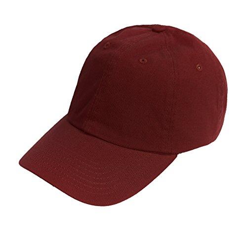 (Bio-Washed Unstructured Cotton Adjustable Low Profile Strapback Cap (Maroon))