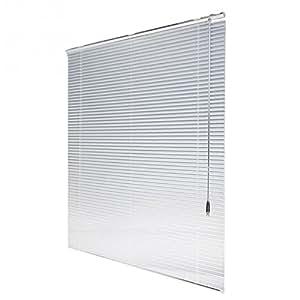 Feichen persiana (aluminio blanco/–Estor persiana Estor schalusie Puerta de persiana con muchos tamaños, Aluminio, blanco, 72.5*160 cm