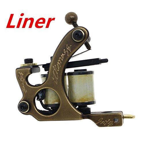 Thomas Coil Tattoo Machine Tattoo Gun Brass Frame 8 Wrap Coils (Liner) ()