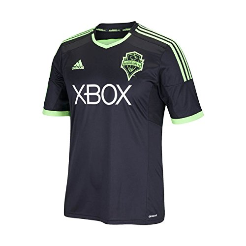 adidas MLS Seattle Sounders FC Men's Replica Short Sleeve Jersey, XX-Large, Black