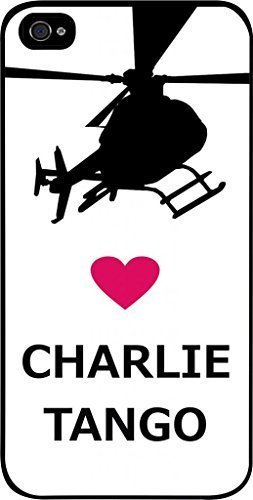 Love Charlie Tango -Hard Black Plastic Snap - On Case with Soft Black Rubber Lining-Apple Iphone 4 - 4s - Great Quality!