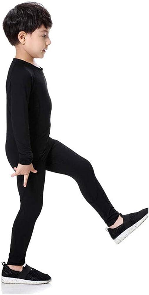 Boys Stretch Thermal Underwear Sets Fleece Lined Ultra Soft Long Johns Top /& Bottom