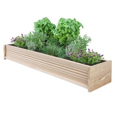 "Rectangular Planter Box Size: 7"" H x 48"" W x 11"" D"