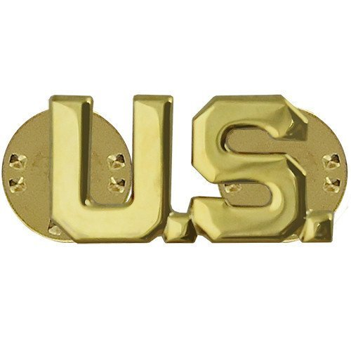 - Vanguard Army Officer Branch of Service Collar Device: U.S. Letters