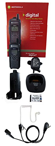 Motorola DTR410 digital 900mhz FCC license free radio and Surveillance Headset