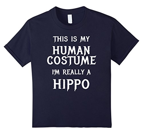 College Costume Ideas Cheap (Kids Hippo Halloween Costume Shirt Easy Funny for Kids Adults 12 Navy)