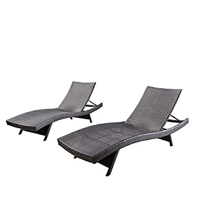 Christopher Knight Home 294919 Lakeport Outdoor Adjustable Chaise Lounge Chair (Set of 2) - Set of 2 Outdoor Wicker Adjustable Chaise Lounge Chairs BROWN WICKER is smooth and soft, resists sun's heat on hot days, and feels great on bare skin NO ASSEMBLY REQUIRED ~ You'll Be Lounging in the Sun Right Away! - patio-furniture, patio-chairs, patio - 41gYmrcQ98L. SS400  -