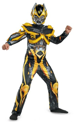 Disguise Hasbro Transformers Age of Extinction Movie Bumblebee Deluxe Boys Costume, Small/4-6 - Boys Transformers 4 Bumblebee Deluxe Costumes