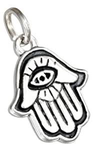 Sterling Silver Hamsa Hand Of God Charm