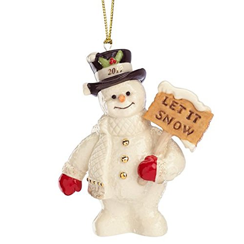 Lenox 2017 Snowman Figurine Ornament Annual Let It Snow Christmas Gift