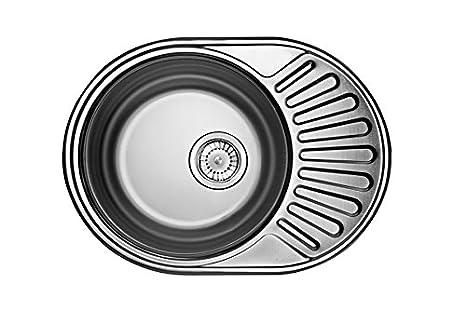 D oval in acciaio inox lavello della cucina e del bagno lavandino