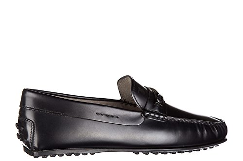 Tods Herren Leder Mokassins Slipper city gommino Schwarz