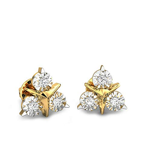 Candere-By-Kalyan-Jewellers-18k-750-Yellow-Gold-and-Diamond-Stud-Earrings-for-Women