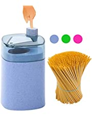 Toothpick Holder Dispenser Automatic+Toothpicks Pak - Designed in US - Small &Spacious