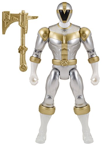 "Power Rangers Super Megaforce - 5"" Lightspeed Rescue Titanium Ranger Action Hero"