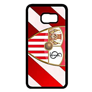 Samsung Galaxy S6 Edge Plus Case,Sevilla F¨²tbol Club Logo Protective Phone Case Black Hard Plastic Case Cover For Samsung Galaxy S6 Edge Plus