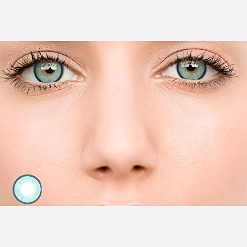 Rtiopo Cosplay Large Diameter Contacts Lens Eye Makeup Unisex 5 Colors Available for Both Men & Women - Eyes For Blue Contacts