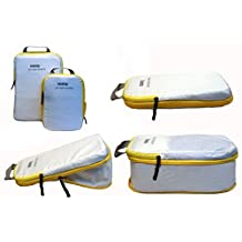 Travel Packing Cubes , Ultra Light Weight Silnylon, With Space Saving Compression feature