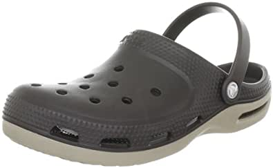 crocs Men's 12212 Duet Plus Mule,Espresso/Mushroom,6 M US