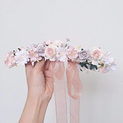 Truck Nuts Costume (Siam2u Flower crown, bridal crown, wedding headpiece, Rustic headpiece, bridal head piece, headbands, flower headband)