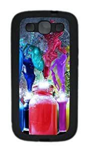 Colorful 3D Abstract Art Custom Design Samsung Galaxy S3 Case Cover - TPU - Black