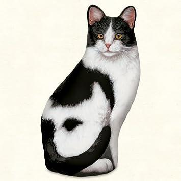 Amazon.com: Door Stoppers - Black & White Cat Door Stop - Cat ...
