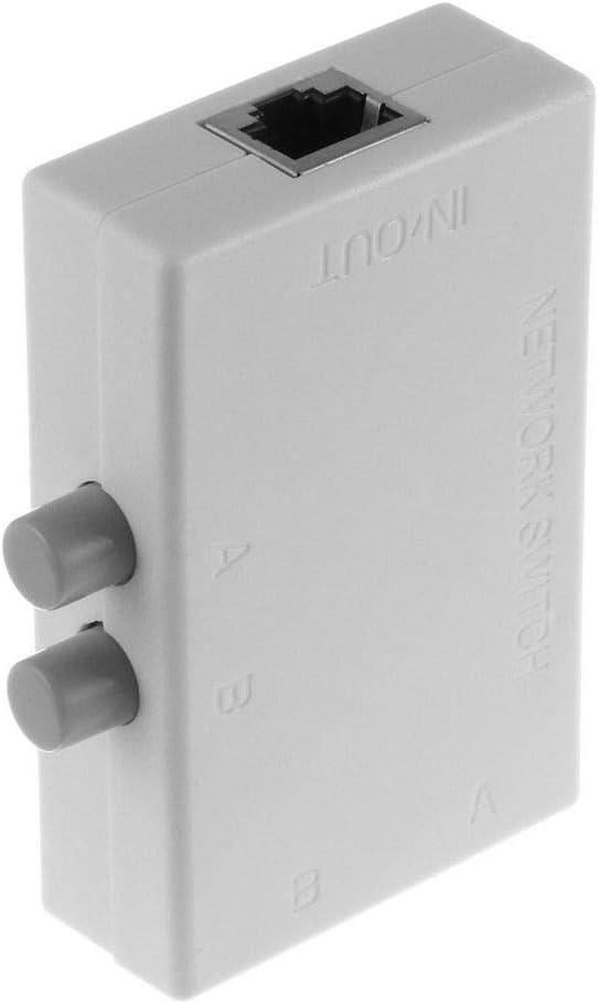 2 Ports 1x2 or 2x1 RJ45 Network Ethernet Port Switcher Modem ...