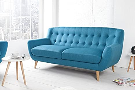 Chesterfield 3er sofá Azul de la casa Casa Padrino - Muebles ...