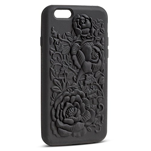 Women's Cell Phone Skin in Ebony Raised Rose - Ebony Rose