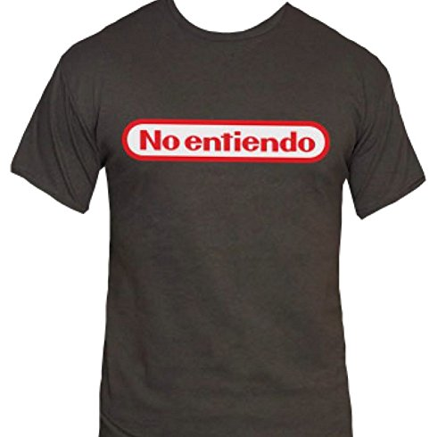 No Entiendo T-Shirt-That Funny Shirt-Spanish I Don't Understand Nintendo Shirt-Small-Charcoal