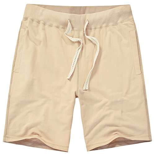 Amy Coulee Men Classic Functional Organic Cotton Drawstring Short (M, Khaki)