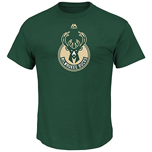fan products of NBA Milwaukee Bucks Men's Logo II Short Sleeve Basic Tee, Large, Dark Green