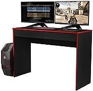 Escrivaninha Mesa Gamer XForce1- Preto/Vermelho - Mania de Móveis