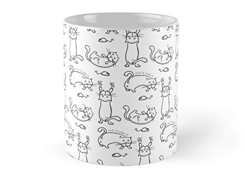 Salem The Albino Cat 11oz Mug - Made from Ceramic - Best gift for family friends.