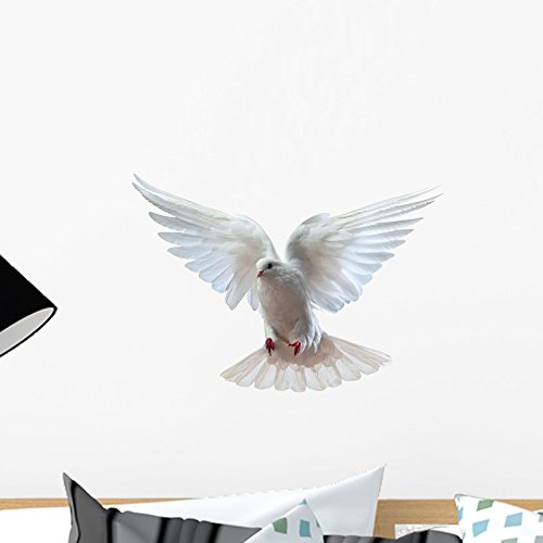 Wallmonkeys A Free Flying White Dove Wall Decal Peel and Stick Graphic WM262126 (18 in W x 13 in H)