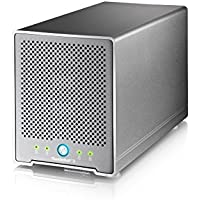 AKiTiO 4Bay, 2.5 External Storage Enclosure (2xThunderbolt3 ports, 1xDIsplayPort, hardware RAID and comes with Thunderbolt cable)
